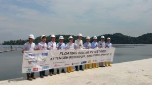 Phase 1 of Floating Solar PV Test-Bed at Tengeh Reservoir